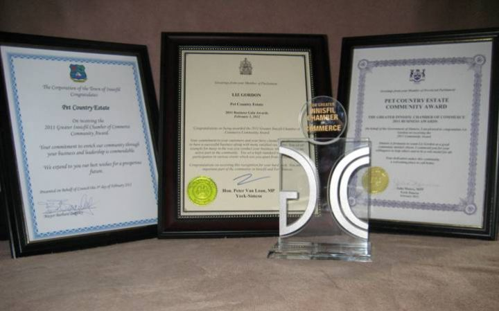 Greater Innisfil Chamber of Commerce 2011 Community Award Winner!